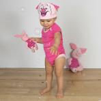 Disney Winnie the Pooh Piglet Bodysuit & Hat - Age 9-12 Months - 1 PC
