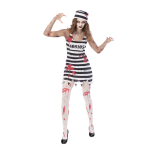 Zombie Convict Costume - Size 16-18 - 1 PC