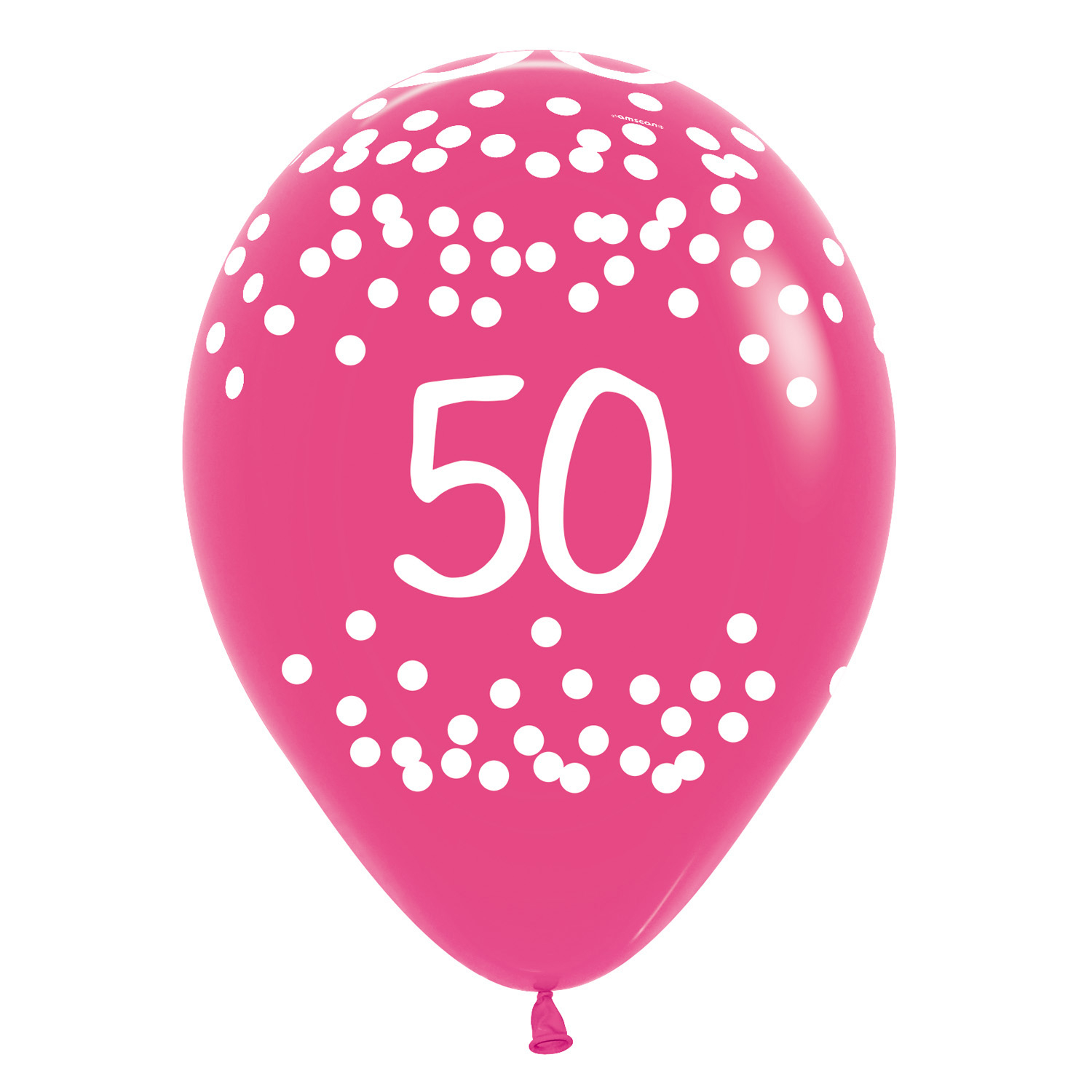 50th Birthday Polka Dots Tropical Assorted Colours Latex Balloons 12 30cm