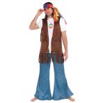 Adults Long Hippie Vest - 4 PC