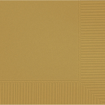 Gold Beverage Napkins 2ply 23cm - 12 PKG/20