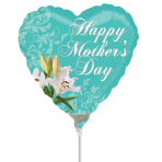 Happy Mother's Day Lily Mini Shape Foil Balloons A15 - 5 PC