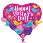 "Happy Mother's Day Bird Garland XL Foil Multi-Balloons 22""/55cm x 20""/50cm P45 - 5 PC"