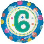 SpotOn 6th Happy Birthday Standard Foil Balloons S40 - 5 PC