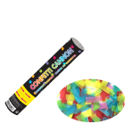Multi Coloured Paper Confetti Cannons 24cm - 12 PC