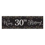 Gold Sparkling Celebration Add an Age Giant Banners 1.65m x 51cm - 12 PC