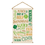 St Patrick's Large Canvas Hanging Signs 46cm x 80cm - 3 PC