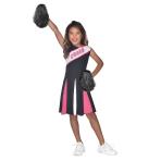 Cheerleader Girl Pink Costume - Age 6-8 Years - 1 PC