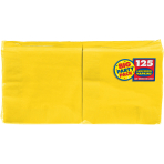 Sunshine Yellow luncheon Napkins 33cm - 6 PKG/125