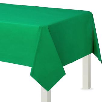 Festive Green Plastic Tablecovers 1.37m x 2.74m - 12 PC