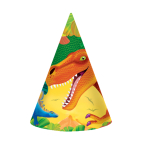Prehistoric Party Cone Hats 17.7cm    - 6 PKG/8