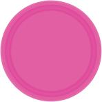 Bright Pink Paper Plates 18cm - 6 PKG/20