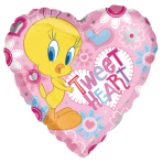 "Tweety Tweet Heart XL Foil Balloon - 18""/45cm - 10 PC"