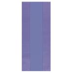Purple Small Plastic Party Bag 24cm h x 10cm w - 12 PKG/25