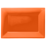 Orange Peel Plastic Serving Platters - 6 PKG/3