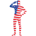 Adults American USA Party Suit Costume - Size L - 1 PC