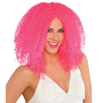 Adults Pink Crimped Wig - 3 PC