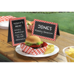 Picnic Party Chalkboard Tent Cards - 18 PKG/8