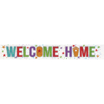 Welcome Home Holographic Foil Banners 2.7m - 12 PC