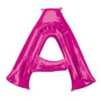 """Letter A Pink SuperShape Foil Balloons 34""""/""""86cm P50 - 5 PC"""
