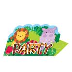 Jungle Friends Stand-up Invitations - 6 PKG/8