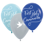 "Blue First Holy Communion 11""/27.5cm Latex Balloons - 6 PKG/6"