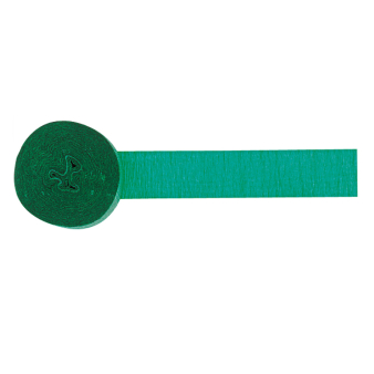 Green Crepe Streamers 4.4cm x 24.7m (Flame Resistant) - 12 PC