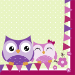Owls Luncheon Napkins 33cm - 10 PKG/20