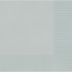 Silver Luncheon Napkins 2ply 33cm - 12 PKG/20