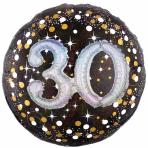 "Gold Sparkling Celebration Sparkling 30th Foil Multi-Balloons 36""/91cm w x 36""/91cm P75 - 5 PC"