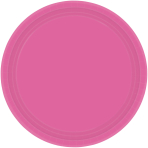 Bright Pink Paper Plates 17.7cm - 12 PKG/8