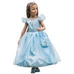 Blue Shimmer Princess Costume - Age 6-8 Years - 1 PC