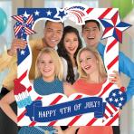 4th of July Giant Customisable Selfie Frames 76cm x 88cm - 3 PKG/15