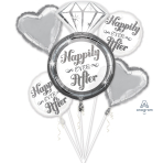 Happily Ever After Foil Balloon Bouquets P75 - 3 PC
