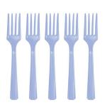 Pastel Blue Plastic Forks - 12 PKG/10