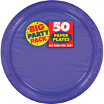 New Purple Paper Plates 23cm - 6 PKG/50