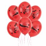 "Spider-Man 4 Sided Print Latex Balloons 11""/27.5cm - 6 PKG/6"