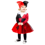 Harley Quinn Comic Book Style Costume - Age 2-3 Years - 1 PC