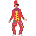 Colourful Clown - Size Large - 1 PC