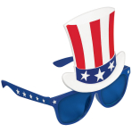 4th July USA Top Hat Glasses - 4 PKG