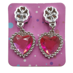 Bulk Packed Heart Diamond Earrings - 96 PC