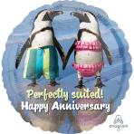 Avanti Happy Anniversary Standard HX Foil Balloons S40 - 5 PC