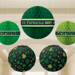 St. Patrick's Day Honeycomb & Lantern Decoration Packs - 6 PKG/5