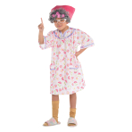 Old Lady Costume - Age 8-10 Years - 1 PC