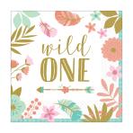 "Boho Birthday Girl ""Wild One"" Luncheon Napkins 33cm - 12 PKG/16"