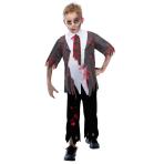 Zombie School Boy Costume - Age 7-8 Years - 1 PC