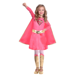 Supergirl Pink Costume - Age 3-4 Years - 1 PC