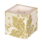 Cream Candles 8cm x 8cm - 6 PKG