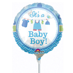 With Love Boy Mini Foil Balloons A15 - 5PC