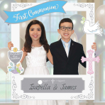First Communion Personalised Photo Frame with add-ons - 3 PKG/15